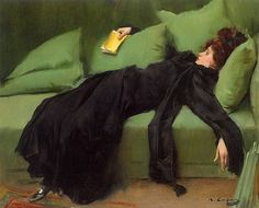 """marzipanandminutiae: """" art-is-art-is-art: """"Young Decadent, Ramon Casas """" what a fucking mood """" Ramones, Art History Periods, French Lifestyle, Cafe Art, Spanish Artists, Woman Reading, Gustav Klimt, New Artists, Light And Shadow"""