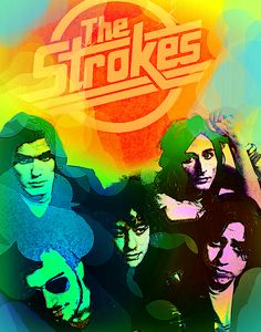 The Strokes by Enki Art All The Young Dudes, Bedroom Posters, The Strokes, Bobs Burgers, Post Punk, Car Park, Rock Music, Rock Bands, Rock N Roll