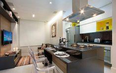 Despojamento, modernidade e integração. O arquiteto Gerson Dutra Sá procurou seguir tais orientações na reforma do apartamento de 35 m². Foto: Divulgação