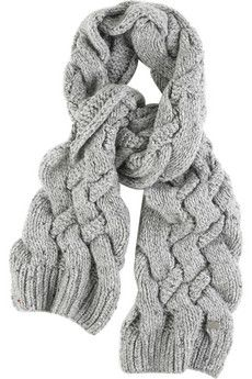 Burberry Shoes & Accessories Marble knit scarf | NET-A-PORTER