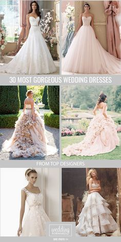 24 Most Gorgeous Wedding Dresses ❤ Sophisticated, chic, elegant, and timeless, we are obsessed with these stunning wedding dresses. See more: http://www.weddingforward.com/24-most-gorgeous-wedding-dresses. #wedding #bride #weddingdresses #bridalgown