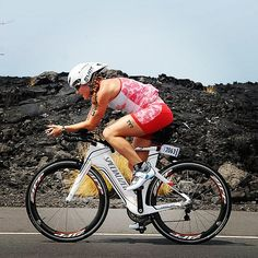 Michelle Duffield hauling a$$ on the Kona bike course! She ended up 2nd in her AG!!! #imkona #triathlon