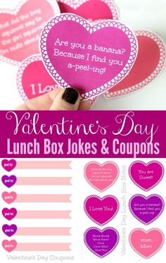 Printable Valentine's Day Lunch Box Jokes and Coupons