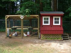 """in the nesting boxes, one section isn't """"cut into the inside"""" but is accessed from the outside. store chicken supplies nearby without getting IN the coop!"""