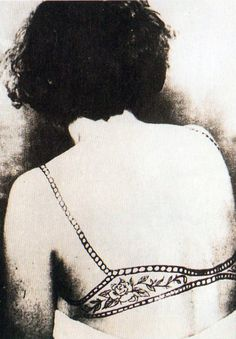 IF only I was small enough.bra tattoo, 1950s.... this ones for you Reba :)