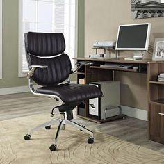 Modway Modern Escape Mid Back Adjustable Computer Office Chair Fire Pit Table And Chairs, Wooden Dining Room Chairs, Living Room Chairs, Dining Chair, Leather Bean Bag Chair, Leather Chair With Ottoman, Stokke High Chair, Best Office Chair, Office Chairs