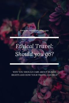 As responsible travellers, we have to take ethical issues in tourism into account. Find out why you should care and how you can affect change. Ethical Issues, Travel Tags, Responsible Travel, Sustainable Tourism, Worldwide Travel, Travel Advice, Vacation Trips, That Way, Trip Planning