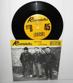 """RIVERDALES back to you 7"""" Vinyl Record Lookout Records #117 , screeching weasel #punkGarageRock"""