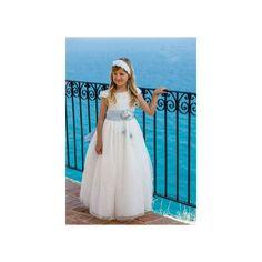 Vestido comunion paillottes y tul drapeado - Arca Boutique Infantil-Juvenil