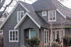 Heritage style Kitsilano home was finished with a heavy slop-dash stucco finish Stucco Finishes, Stucco Homes, Plaster, Around The Worlds, Exterior, Cabin, House Styles, Ideas, Home Decor