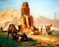 Jean-Leon Gerome : The Colossus of Memnon