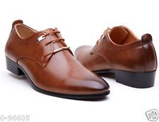 NEW Men's Casual Pointed Leather Lace Up Wedding Formal Dress Shoes Oxfords