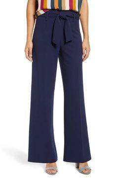 LEITH High Waist Belted Pants, Main, color, NAVY PEACOAT American Women, Trousers, Women's Pants, Sash, Blue Denim, Pants For Women, Pajama Pants, Nordstrom, Belt