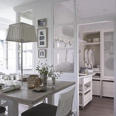 practical chic .. laundry ROOM .. how about after iron and folding ...