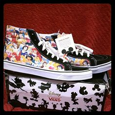 Disney Vans Slim SK8-Hi Princess sneakers Size 9.5 Limited Edition Disney Princess Slim Van's SK8-Hi sneaker. New with tags and retail box. Super cute and impossible to find anywhere!!! Vans Shoes Sneakers
