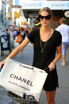Riding a bike and shopping at Chanel..... It doesn't get any better than that. love it!