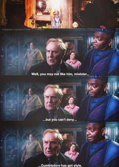 Enough said. Now you probably completely understand when I say Kingsley shacklebolt is one of my faves.