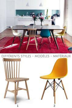 Une belle déco de caractère dans cette cuisine ouverte, notamment grâce aux chaises dépareillées !  http://www.homelisty.com/chaises-depareillees/