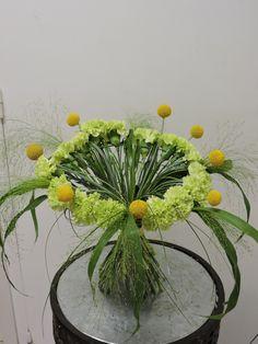 Bouquet décoratif avec structure réalisé par formation adultes cap en 8 mois .Mai 2016.Cfa Blagnac (France).