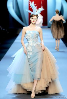 galliano couture | Layer upon layer of asymmetric hemlines is the stunning feature of ...