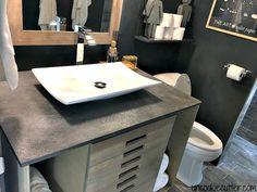 Concrete Vanity Top - DIY for less - UncookieCutter.com