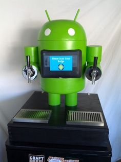 """This Is An Android Kegerator - """"Besty"""" the KegDroid - built by Paul Carff."""