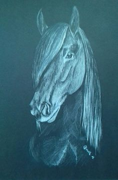 Black and withe horse drawing from me Lion Sculpture, My Arts, Horses, Statue, Drawings, Black, Black People, Sketches, Drawing