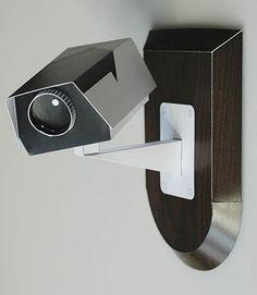 neat and stylish security camera Cctv Security Systems, Security Surveillance, Security Camera, Security Gadgets, Art Optical, Design System, Fiber Optic, Paper Toys, Tecnologia
