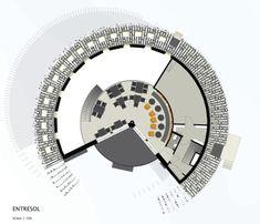 Murman Arkitekter, Åke E:son Lindman · Restaurang Tusen Ramundberget, Sweden Architecture Concept Diagram, Architecture Drawings, Contemporary Architecture, Archi Design, Architect Design, Skyscraper, Floor Plans, Sweden, Projects