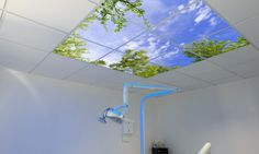 Simar Design's faux skylights are made from LED panels and nature photographs to bring sun to any room.