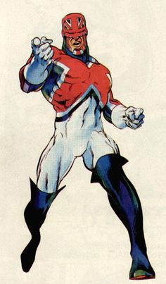 Captain Britain redesign by Alan Davis