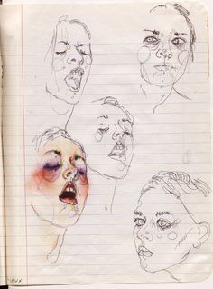 red-lipstick: Moni Lewandowski - Yawn, 2008 Drawings//found by isabella sheehan Street Art Graffiti, Art Inspo, Drawing Sketches, Art Drawings, Personajes Monster High, Arte Sketchbook, Doodles Zentangles, Alphonse Mucha, Art Et Illustration
