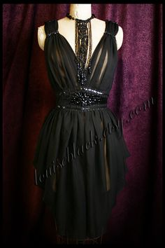 The Louise Black Venom Dress with Hand Beaded by louiseblack, $425.00