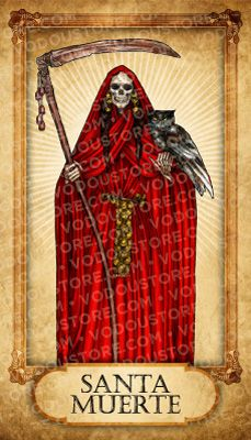 Prayer Card - Santa Muerte (Roja)