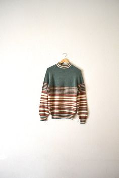 70's Knit Striped Pullover Sweater by Bigbrothervintage on Etsy