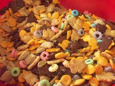 Trail mix ; Gold fish snack mix.