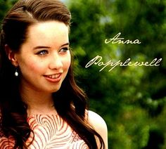 Anna Popplewell - I LOVE HER NAME.