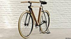 Wood.b: arte con chapa de fresno #bicicleta #bike