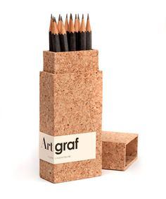 Packaging for pencils. Lovely + functional = LOVE