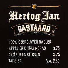Le Grand Café, Arnhem – Bold Statements Chalkboard Custom Handlettering - Hertog Jan Bastaard logo