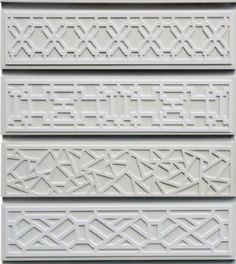 O'verlays. lightweight, fretwork panels can easily be applied over IKEA's Malm and Rast bureaus.