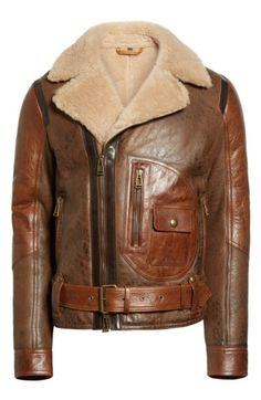 Main Image - Belstaff Danescroft Shealing Leather Jacket