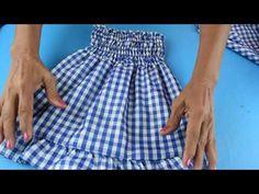 Como hacer un vestido para niña fácil - YouTube Baby Girl Dress Patterns, Baby Dress Design, Dress Sewing Patterns, Sewing Baby Clothes, Baby Sewing, Diy Fashion Hacks, Cardigan Bebe, Cute Little Girl Dresses, Handmade Skirts