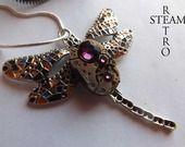 Collana di Steampunk Gaudi Steampunk Libélula Collana meccanismo dell'orologio in Ametista Spedizione gratuita : Collane di steamretro-italia