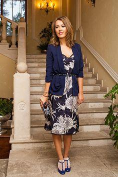Ksenia in blue dress