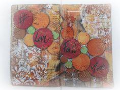 #LoveFallArt - Art journal - Start to Finish - Nybörjare / Beginners