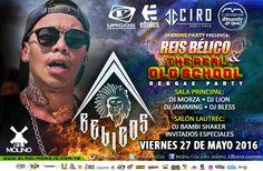"""El Molino & Jamming Party presentan: """"Reis Bélico – The Real Old School Reggae Party"""" http://crestametalica.com/events/el-molino-jamming-party-presentan-reis-belico-the-real-old-school-reggae-party/ vía @crestametalica"""