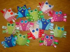 Taggies!   I really should save all those ribbon scraps.