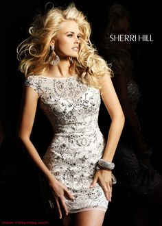 Sherri Hill 2948 Cocktail Dress with sparkling beadwork $698.00 - Dresses from Rissy Roo's