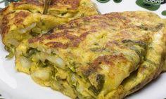 Tortilla de bacalao, una sencilla y deliciosa recetaque no puede faltar en ninguno de los tradicionales menús  de sidrería.